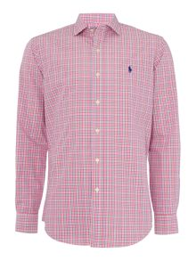 Polo Ralph Lauren Poplin slim fit long sleeve multi gingham shirt