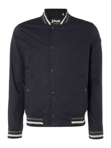 Schott NYC Stripe trim baseball jacket