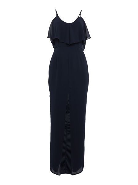 Elise Ryan Cold Shoulder Front Split Maxi Dress