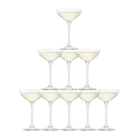 LSA Tower Champagne Set Clear x 10