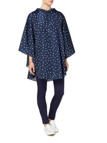Dickins & Jones Star Print Poncho Pac a Mac