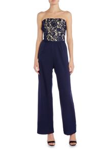 Little Mistress Sleeveless Embroidered Jumpsuit