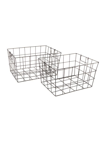 Linea Wire tapered set of 2 baskets