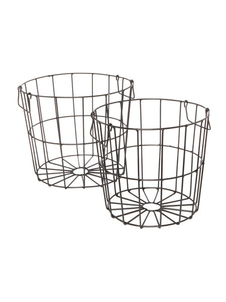 Linea Wire deep round set of 2 baskets