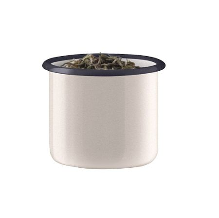 LSA Utility Small Storage Jar & Ash Lid, Milk White