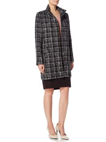 Linea Check Detail Coat