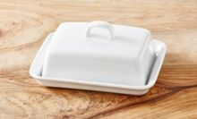 Linea Luna porcelain butterdish