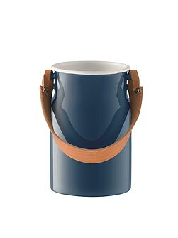 Utility Utensil Pot & Leather Handle Juniper Blue