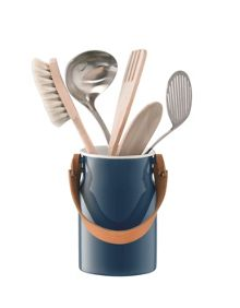 LSA Utility Utensil Pot & Leather Handle Juniper Blue