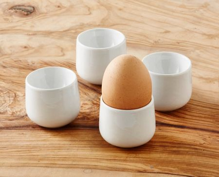 Linea Luna porcelain egg cup set of 4