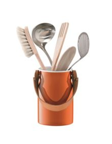 LSA Utility Utensil Pot & Leather Handle Pumpkin