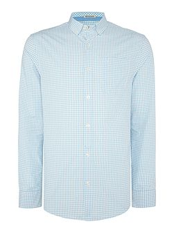 Gingham Button Through Long Sleeve Shirt