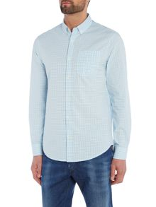 Original Penguin Gingham Button Through Long Sleeve Shirt