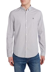 Original Penguin Dressy Stripe Long Sleeve Button Through Shirt