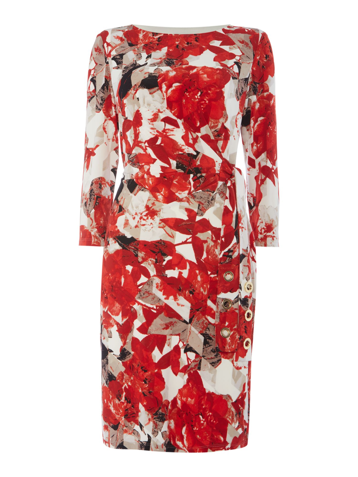 Episode Floral printed dress with tie, Graphic Floral Print