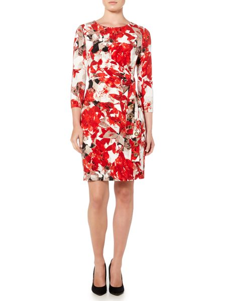 Episode Floral printed dress with tie