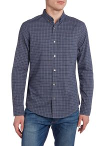 Original Penguin Tri-Colour Gingham Long Sleeve Shirt
