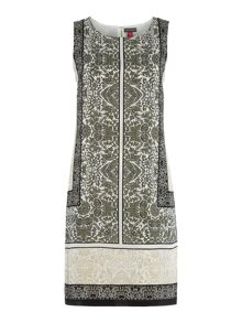 Vince Camuto Delicate Maze Panel Shift Dress