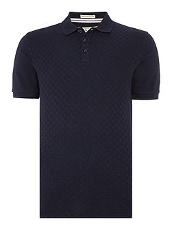 Centre Jacquard Front Short Sleeve Polo Shirt
