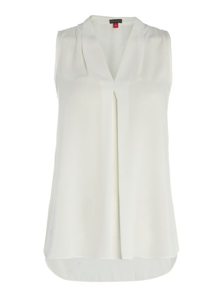 Vince Camuto Sleeveless Blouse with Inverted Pleat