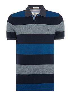 Bar Stripe Short Sleeve Polo Shirt