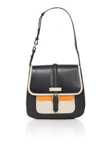 Jonathan saunders black small flapover bag
