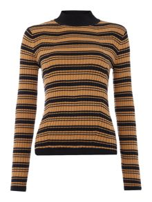 Therapy Isabel Long Sleeve Rib Detail Jumper