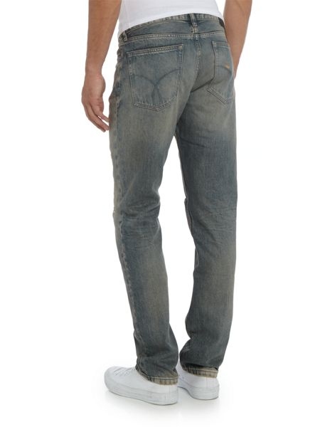 Calvin Klein Destructed Slim Straight Fit Jeans