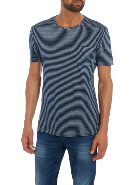 Calvin Klein Bahar Stripe Short Sleeve T-shirt