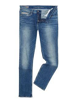 Beats Blue Slim Fit Straight Jeans