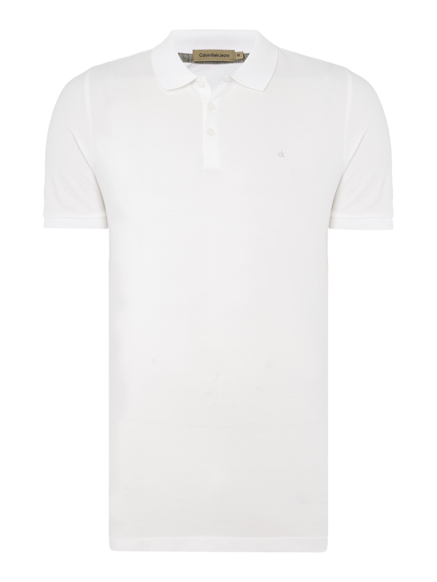 Men's Calvin Klein Paul Polo Shirt, Optical White