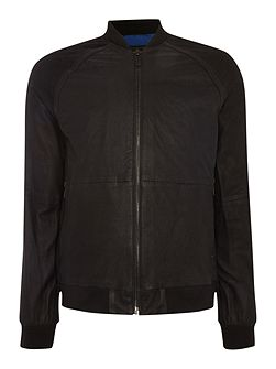 Norent leather bomber
