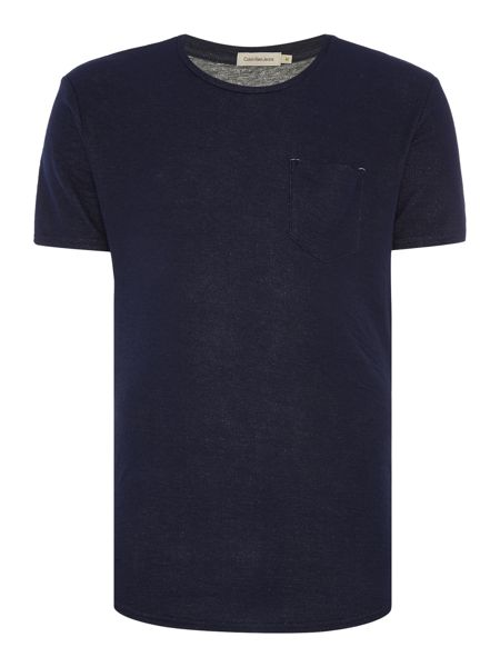 Calvin Klein B-double knit ss pocket tee pditwck