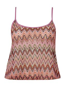 Zig zag cover up top
