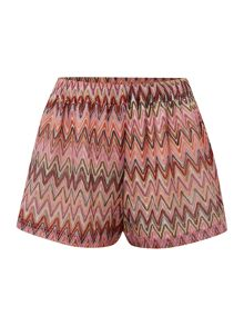Lipsy Zig zag cover up shorts