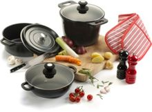 Linea Black Cast Aluminium Stockpot