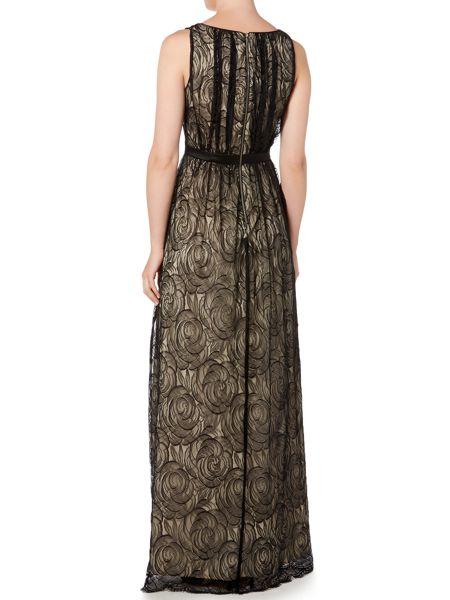 Adrianna Papell All over lace v neck dress