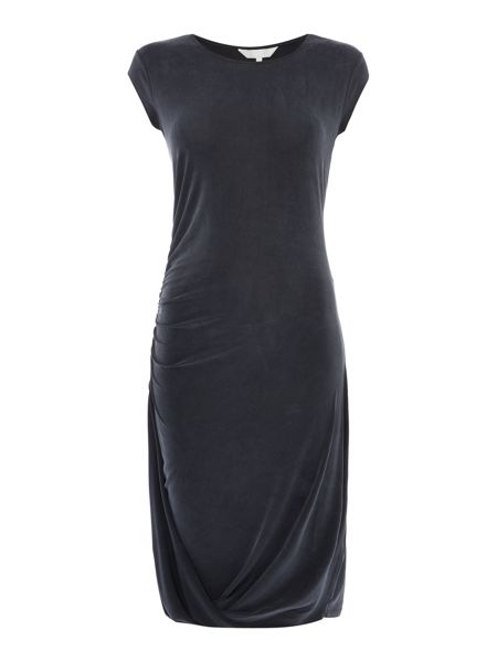 Gray & Willow Celi cupro side drape hem dress