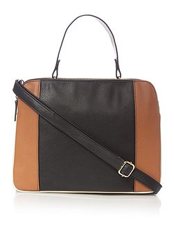 Carrie triple compartment handbag