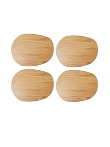 Linea Oak Coaster Set Of 4