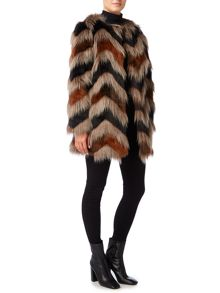 Biba Carved faux fur coat