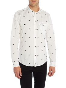 Only & Sons Bird Print Long Sleeve Shirt