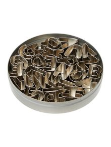 Linea Alphabet cookie cutters