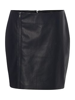 Black PU skirt