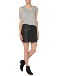 Label Lab Black PU skirt
