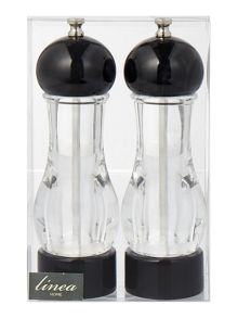 Linea Black and clear salt and pepper set