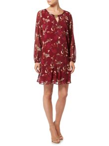 Biba Printed biba trim detail dress