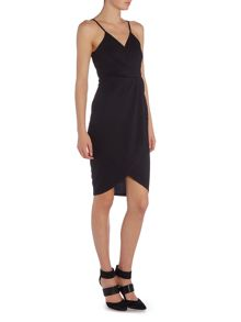 Wal-G Strappy V Neck Dress