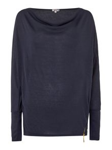 Wal-G Long Sleeved Knit With Zip Detail