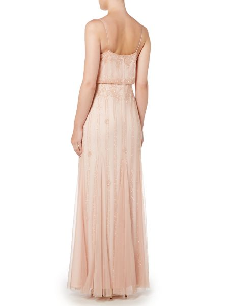 Adrianna Papell Sleeveless v neck blouson dress